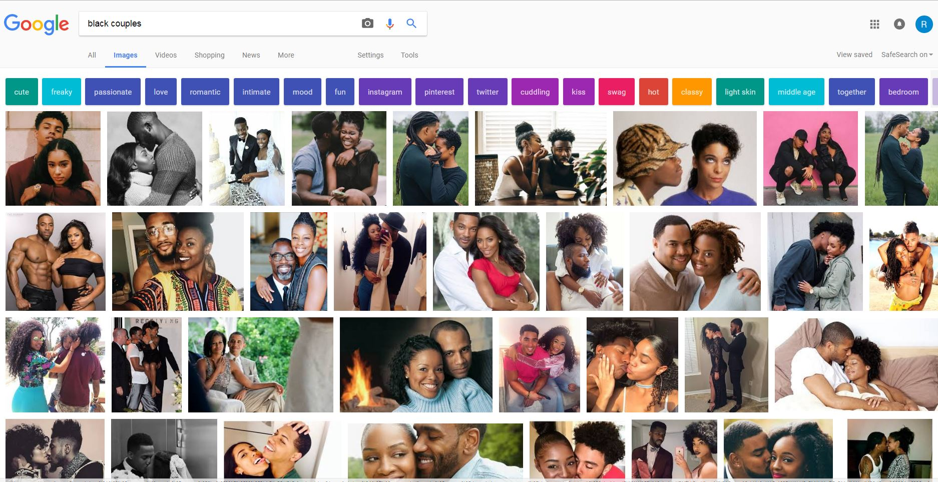 Interracial search engine